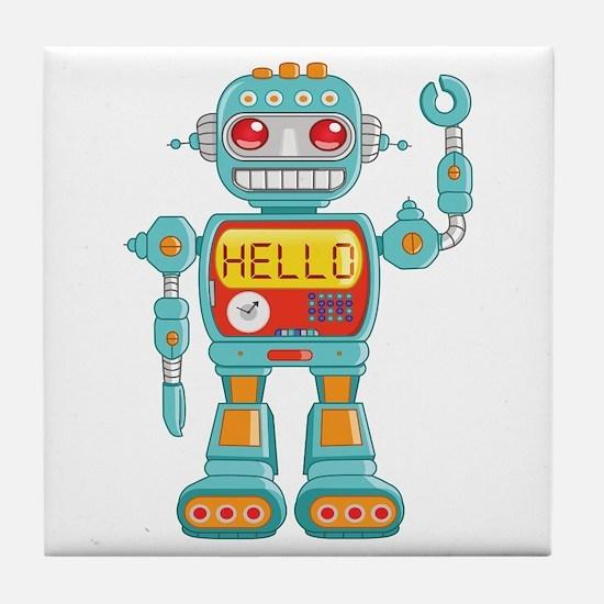 Hello Robot Tile Coaster