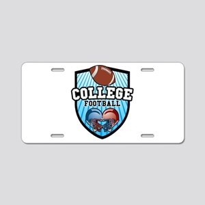 College Football Aluminum License Plate