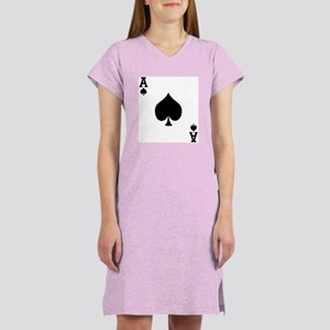 Ace of Spades Women's Pink Nightshirt