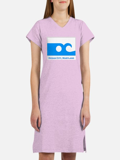 Ocean City MD Flag Women's Nightshirt