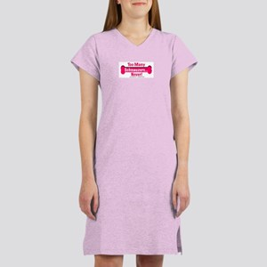 Too Many Schnauzers... Women's Nightshirt