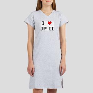 I Love JPII Women's Pink Nightshirt