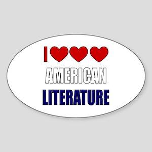 American Literature Sticker (Oval)