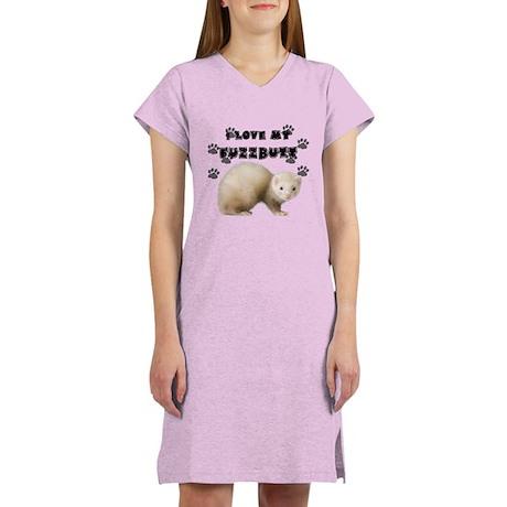 I love my fuzzbutt. Women's Nightshirt