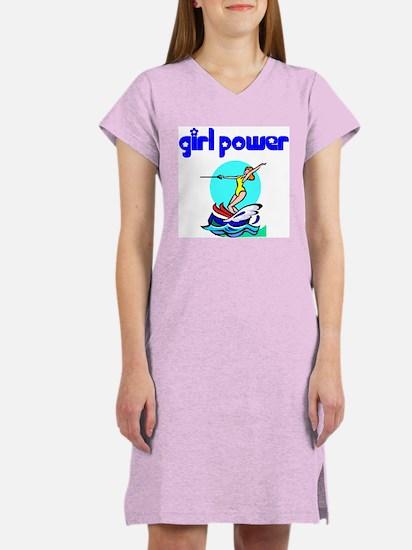 Girl Power Waterskiing Women's Nightshirt