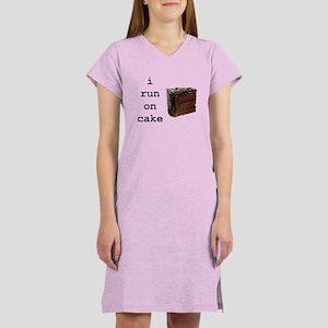 i run on cake Women's Nightshirt