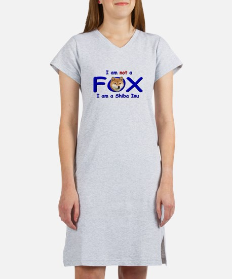 I am not a fox I am a shiba I Women's Light Nights