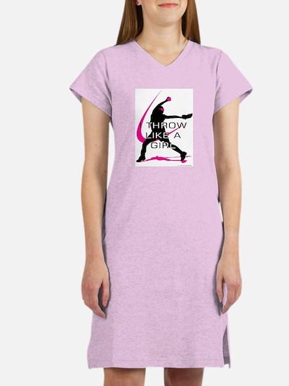Cute Fast pitch Women's Nightshirt