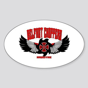 Belfast Choppers Oval Sticker