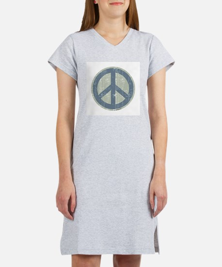Urban Peace Sign - Denim Women's Nightshirt