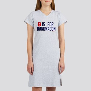 B is for Bandwagon (Red Sux) Women's Nightshirt