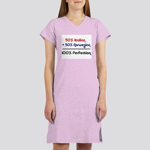 Italian & Norwegian Women's Pink Nightshirt