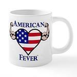 American Fever Strong Heart 20 oz Ceramic Mega Mug