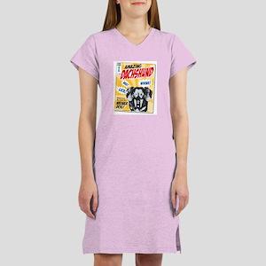 Amazing Dachshund Comics Women's Nightshirt