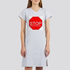 Stop, Collaborate and Listen Women's Pink Nightshi