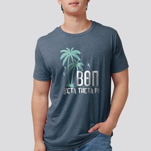 Beta Theta Pi Palm Trees Mens Tri-blend T-Shirts