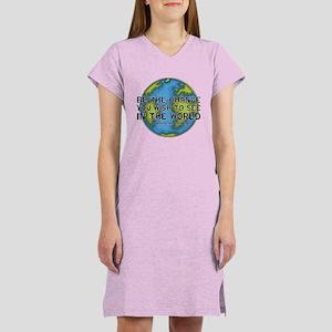 Gandhi - Earth - Change Women's Nightshirt