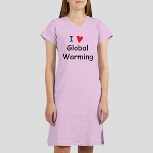 Global Warming Women's Nightshirt