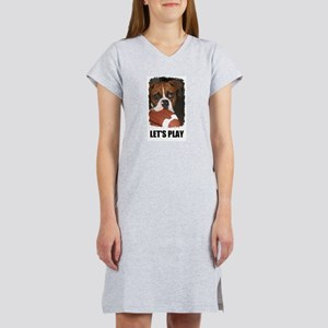 LET'S PLAY (BOXER) Women's Nightshirt