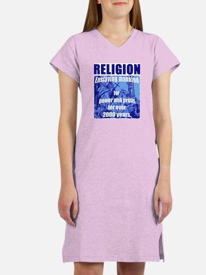 Religion Power & Profit Women's Nightshirt