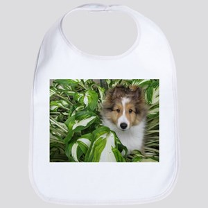 Puppy in the Leaves Bib