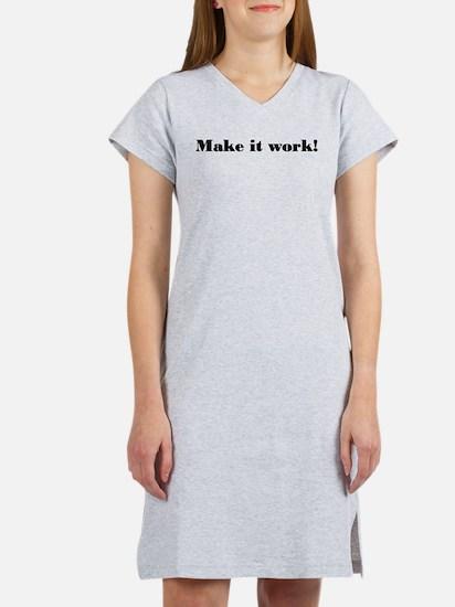Make it work! Women's Pink Nightshirt