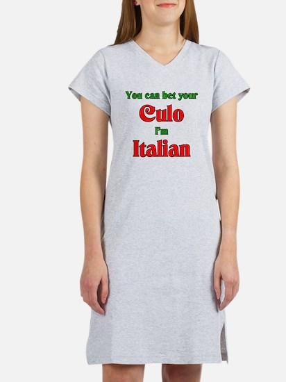 You Bet Your Culo I'm Italian Women's Nightshirt