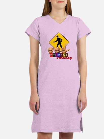 ASL Student Crossing Women's Nightshirt