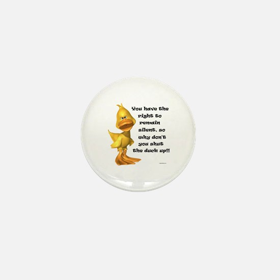 Rude Duck Mini Button