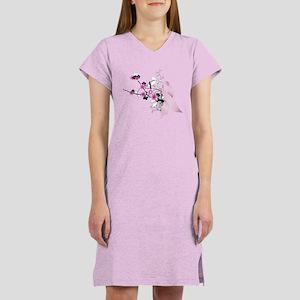 Cherry Blossom Pink Ribbon Women's Nightshirt