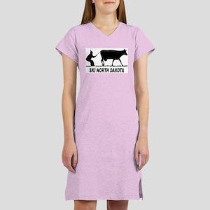 Ski North Dakota Women's Pink Nightshirt