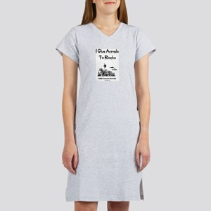I Glue Animals To Rocks Women's Pink Nightshirt