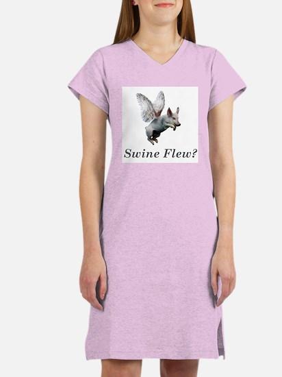 Swine Flew Women's Nightshirt