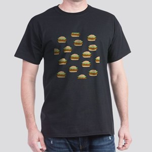 Cheeseburger Dots Black T-Shirt