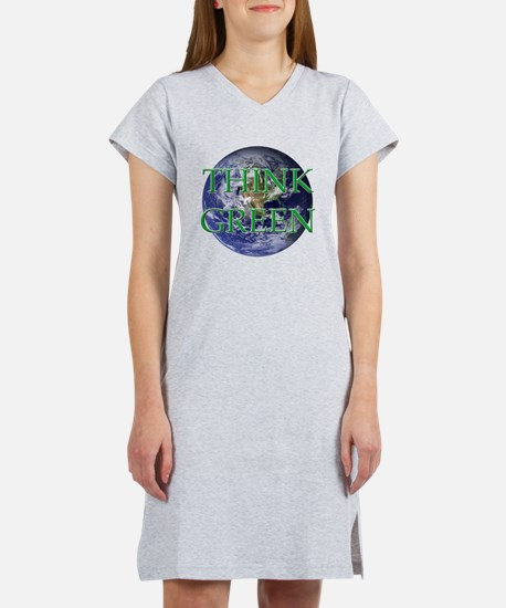 Think Green Double Sided Women's Nightshirt