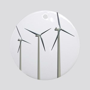 Wind Turbines Ornament (Round)