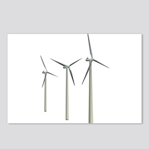 Wind Turbines Postcards (Package of 8)