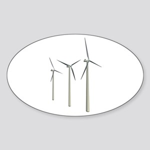 Wind Turbines Sticker (Oval)