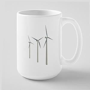 Wind Turbines Large Mug
