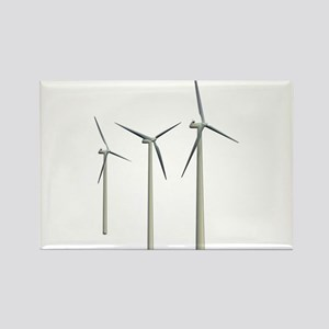Wind Turbines Rectangle Magnet