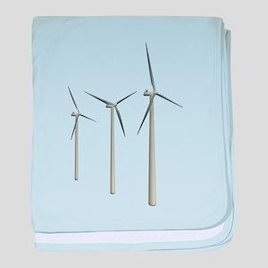 Wind Turbines baby blanket