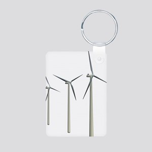 Wind Turbines Aluminum Photo Keychain