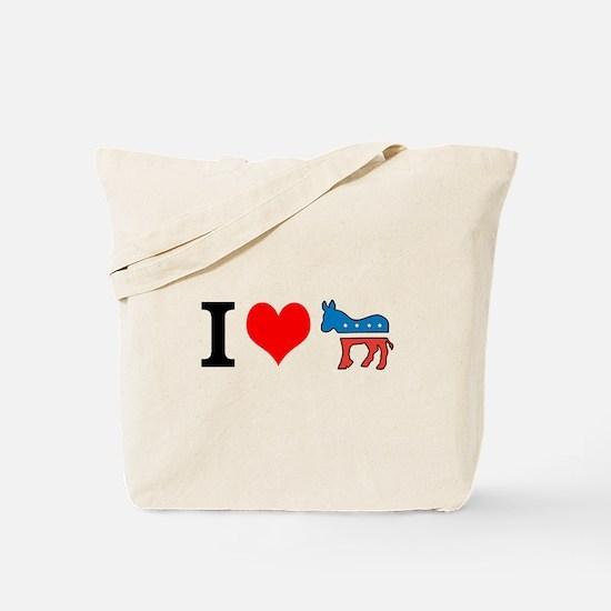 I Love Democrats Tote Bag
