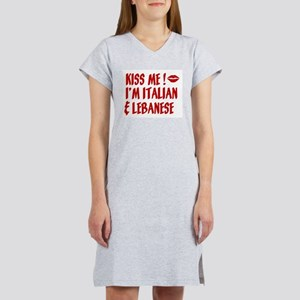 Kiss Me: Lebanese & Italian Women's Nightshirt