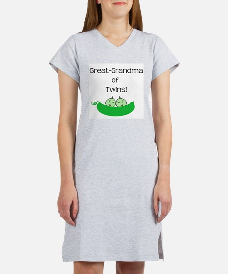 Great Grandma of twins Women's Nightshirt
