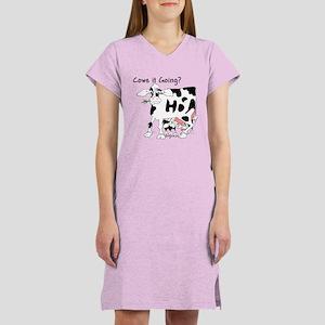 Cartoon Cow Women's Nightshirt