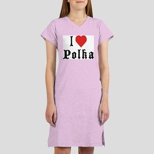 I Love Polka Women's Nightshirt