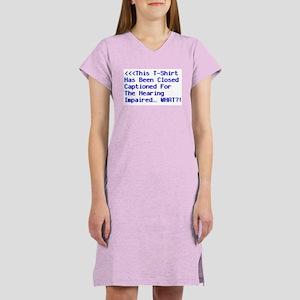 Closed Captioned Women's Nightshirt
