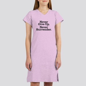 Never Give Up Women's Nightshirt