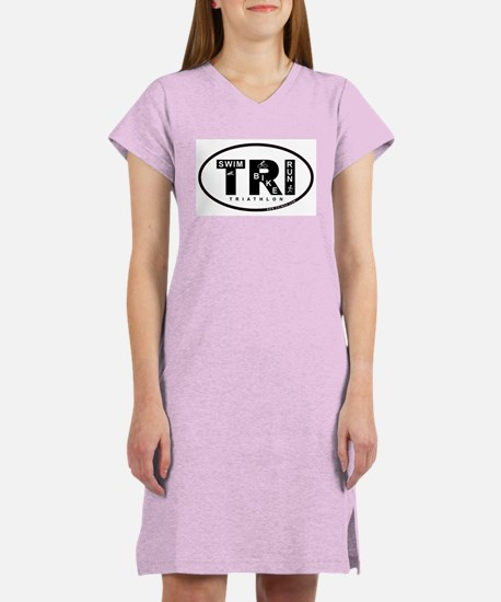 Thiathlon Swim Bike Run Women's Nightshirt